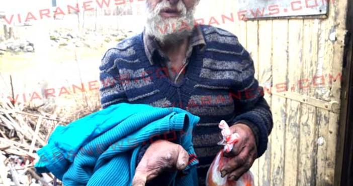 63-годишният инвалид Боян от самоковското село Говедарци едва преживява в