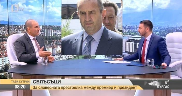 Зам.-председателят на парламентарната група на ГЕРБ Цветан Цетанов коментира искрите,