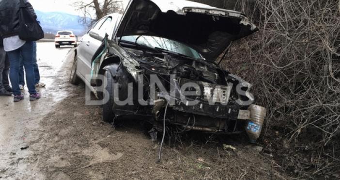 СнимкаBulNews.bgТежка катастрофа е станала преди минути на международен път Е-79