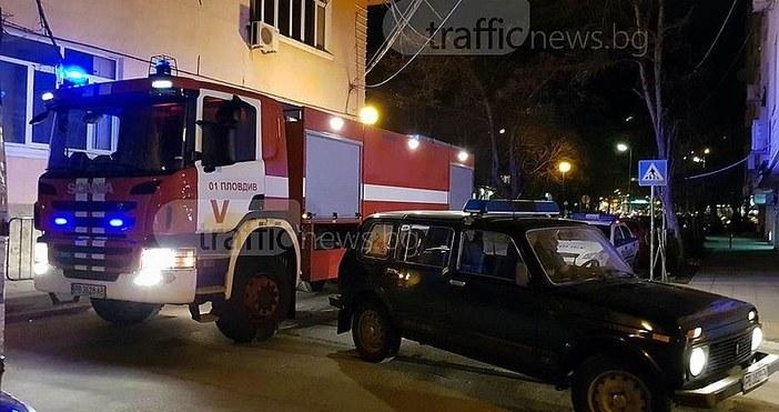 СнимкаTrafficNews.bgДве пожарни и екип на гражданска защита са заели позиции