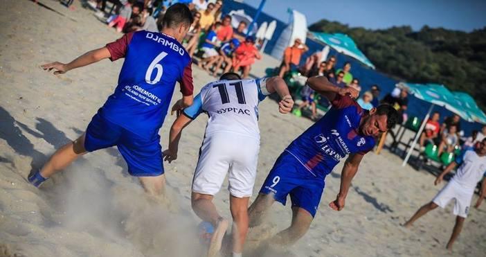 Държавното първенство на България по плажен футболза първи път в