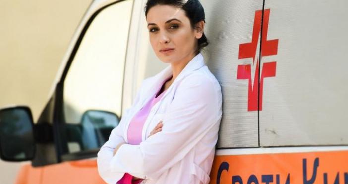 Диана Димитрова, която играе ролята на д-р Огнянова в сериала