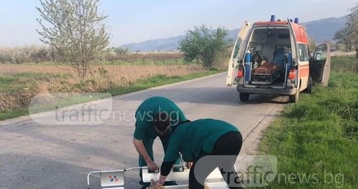 Снимкаtrafficnews.bgФелдшер в Бърза помощ спря линейка, за да помогне на