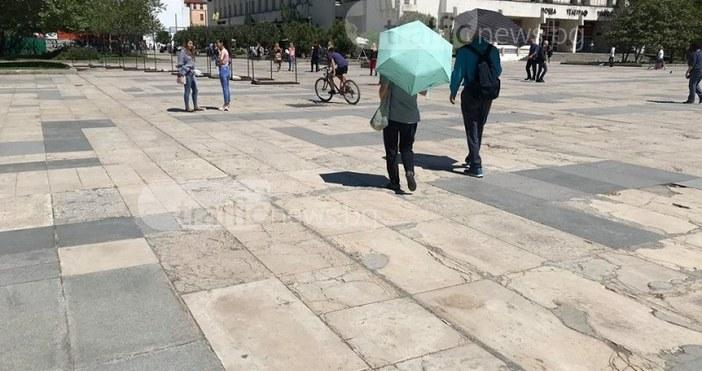 СнимкаTrafficNews.bgТемпературите в Пловдив, региона и цялата страна скачат още повече