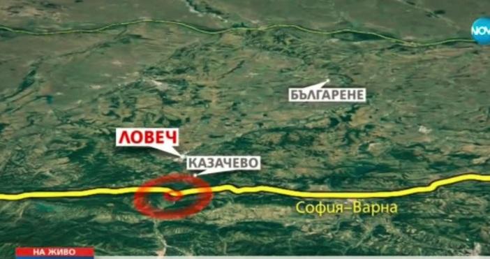 Катастрофа затвори пътя София - Варна край Ловеч в четвъртък.