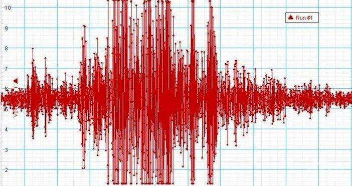 Земетресение с магнитуд 2,8 по скалата на Рихтер е регистрирано