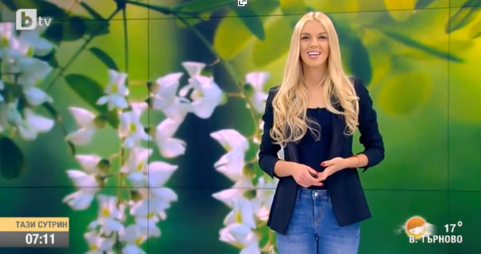 Красивата синоптичка по btv Натали Трифонова току що предупреди, че