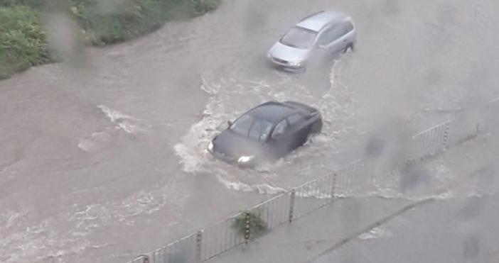 Кадър: bTVСилнен дъждваля в следобедните часове в Разград. Няма големи