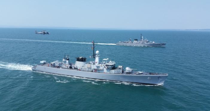 """Снимка: МОТактическото учение """"Черно море - 2018"""" на Флотилия бойни"""