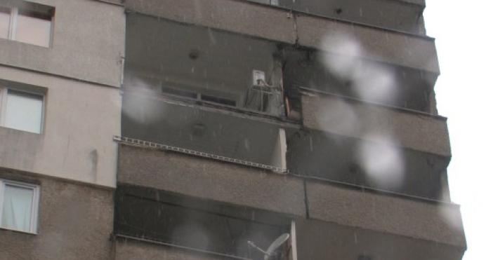 Страховит екшън се е разиграл върху сграда, намираща се при