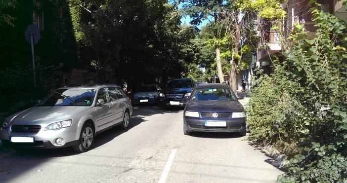 Автомобил задръсти улица