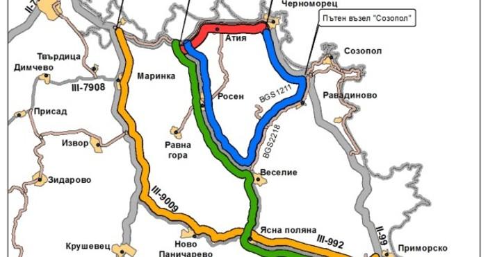 Движението по пътя Бургас- Царево се ограничава от 23 юли