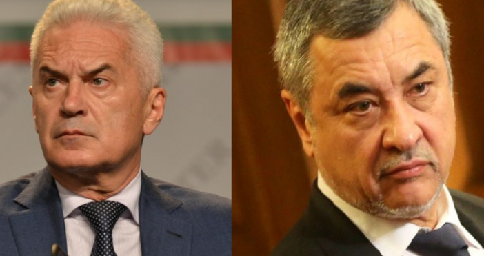 Словесната война между коалиционните партньори Волен Сидеров и Валери Симеонов