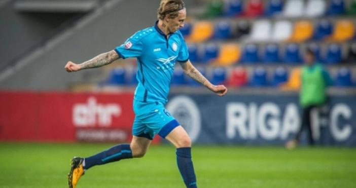 Доскорошният халф на ФК Рига - Богдан Васчук, е чакан