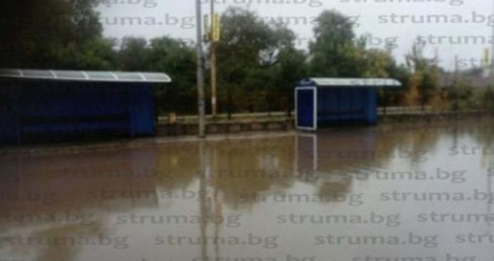 Снимки: struma.bgПороен дъжд се изсипа този следобяд над Перник. Валя