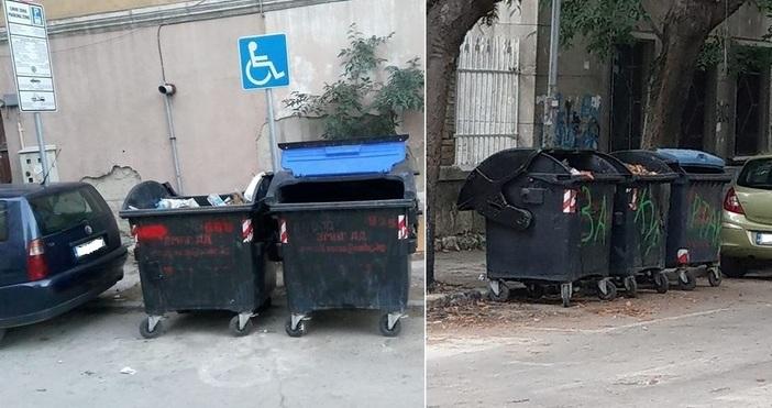 снимки: ФейсбукОбщина Варна е неспособна да координира поставянето на контейнерите