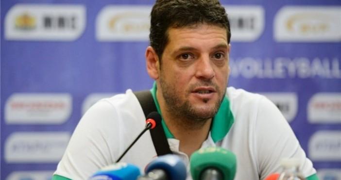 Селекционерът мъжкия национален тим по волейбол Пламен Константинов остана доволен