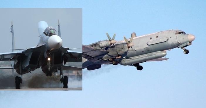 Снимка Wikimedia иСпутник, Руски изтребители СУ-30 в базата Латакия и