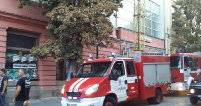 Клон на банка се е запалил днес следобед в центъра