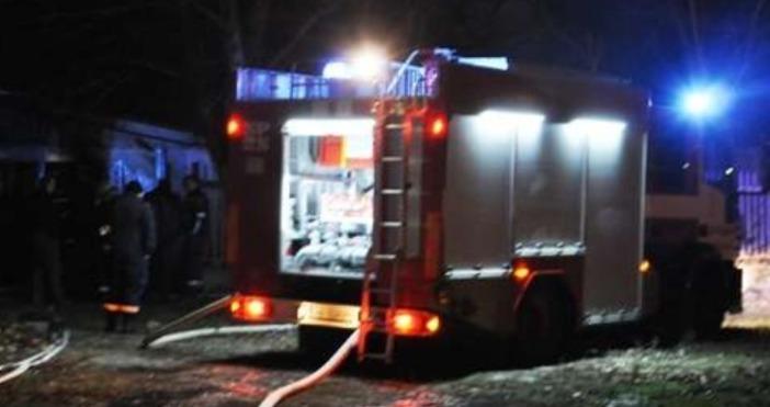 Снимка: МВРПожар е възникнал в района жп-линията между Карлово и