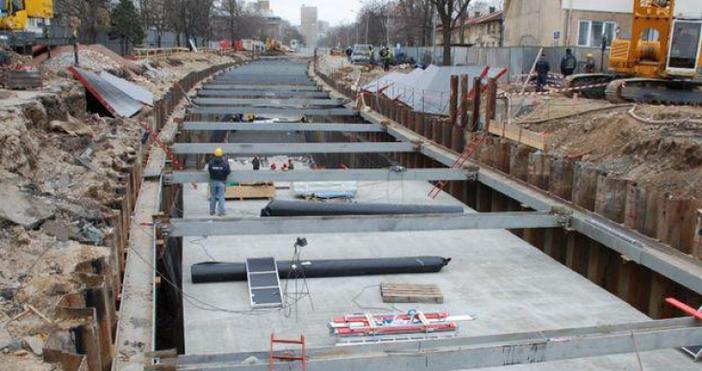 Снимка БлицТежък инцидент е възникнал на строежа на метрото в
