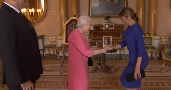 По време нааудиенцията на президента Радев при кралица Елизабет IIса