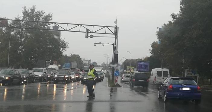 Задръстване се е образувало в момента на изхода на Варна