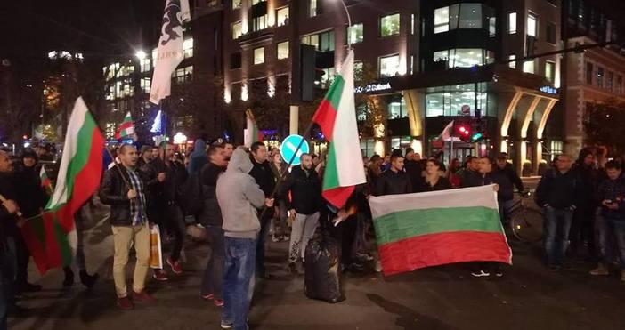 По време на протестното шествие, провело се във Варна на