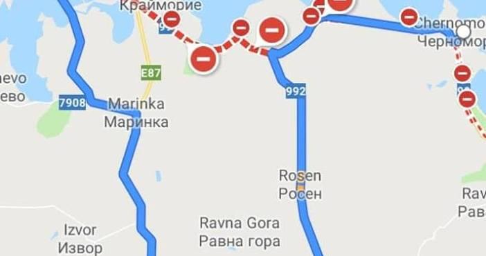 Пътят от Бургас за Черноморец е затворен за неограничено време!