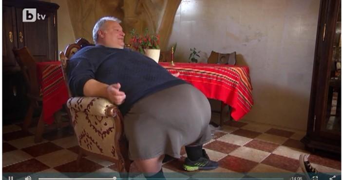 Кирил Искренов - човекът, който тежи 270-280 кг. и не