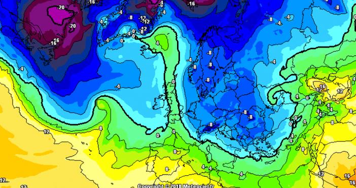 Мощен атлантически циклон се отравя към България, всъщност вече попадаме