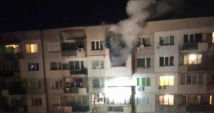 Снимка: фейсбукГолям пожар вилня снощи в столичния ж.к.