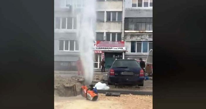 """кадър: Найден Неайденов, """"Виждам те КАТ - Варна""""Авария на водопровод"""