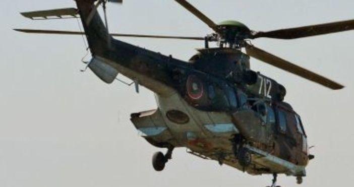 Медицински хеликоптер се разби в планинския район край втория по