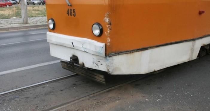 Снимка: Булфото, архивТрамвай, движещ се по линия 22, е дерайлирал
