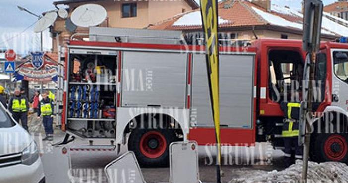 Снимка: struma.comХотелска стая пламна в Банско. Огънят тръгнал от неизправна