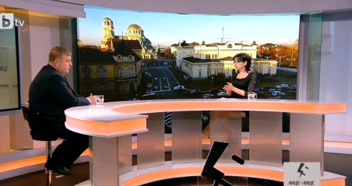 """Кадър: БТВМинистърът на отбраната Красимир Каракачанов е гост в """"Лице"""
