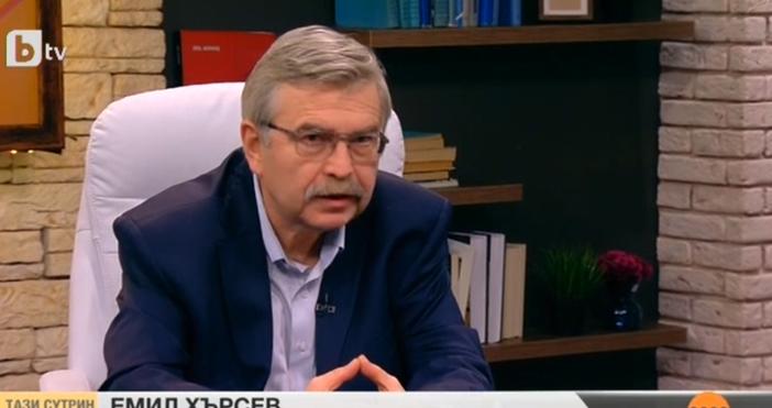 Кадър: БТВФинансистът Емил Хърсев коментира в ефира случая с банкерката,