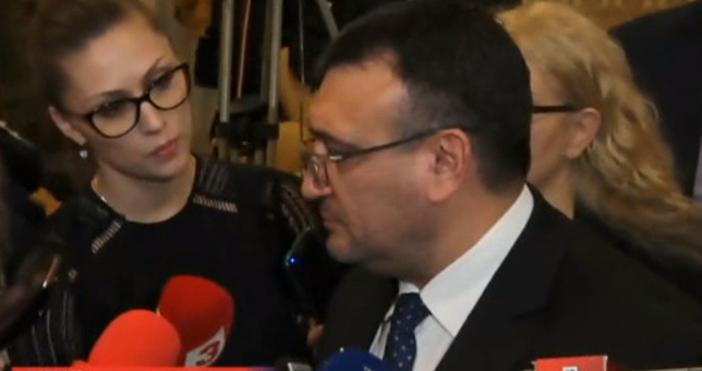 Кадър: Канал 3Министър Младен Маринов обяви на брифинг, че постигат