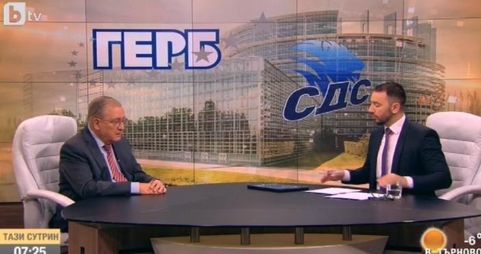 Кадър: БТВЧленът на Националния съвет на СДС Владимир Кисьов коментира
