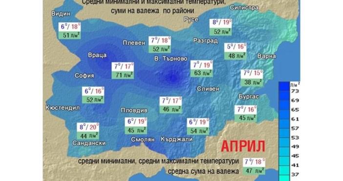 24chasa.bgИде топъл април с валежи под норматаАприл ще е топъл