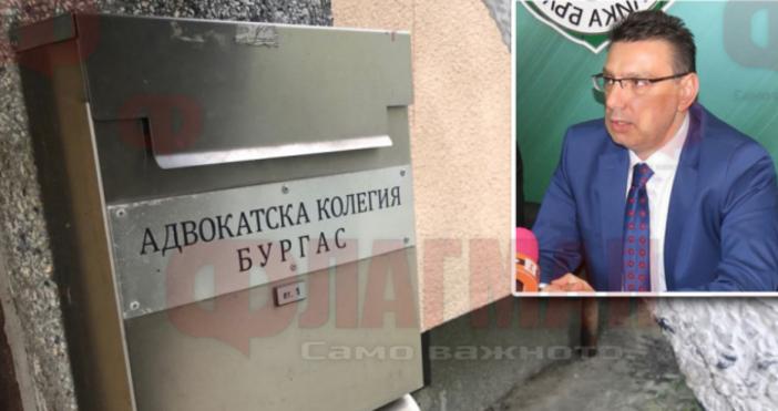 Снимка: ФлагманПредседателят на Адвокатската колегия в Бургас Юрий Бошнаков днес