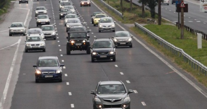 В участъците с ремонт на автомагистралите