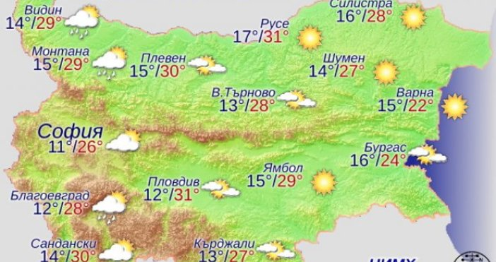 Днес ще е предимно слънчево с висока облачност. След обяд