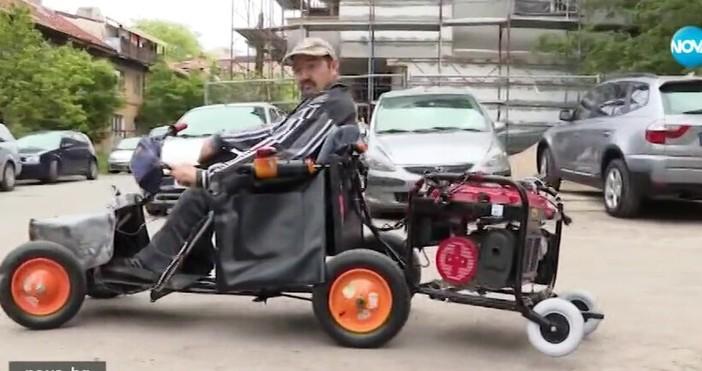 кадър Нова телевизияМъж с церебрална парализа си сглоби инвалидна количка