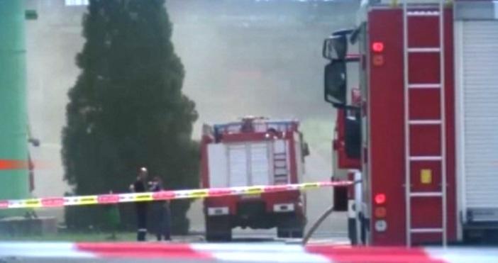 """кадър: БНТОвладян е пожарът в """"ТЕЦ Марица изток 2"""", при"""