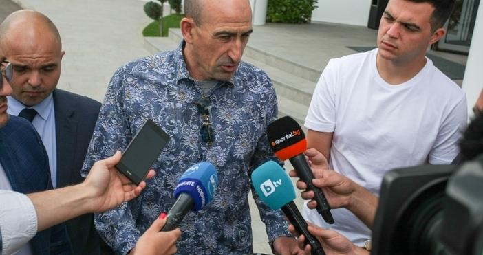 Снимка: Sportal.bgВицепрезидентът на Българския футболен съюз Йордан Лечков говори пред