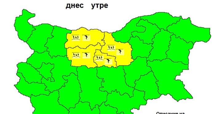 Схема НИМХПреди обяд в сряда ще има валежи в много