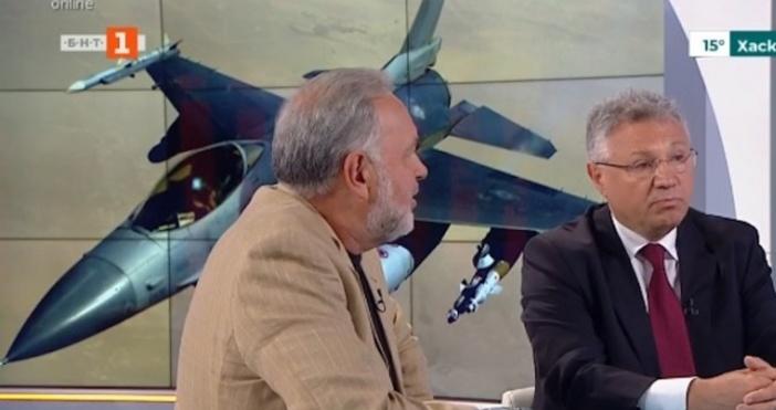 Кадър: БНТБившият военен министърВелизар Шаламановкоментира в сутрешния блок на БНТ,