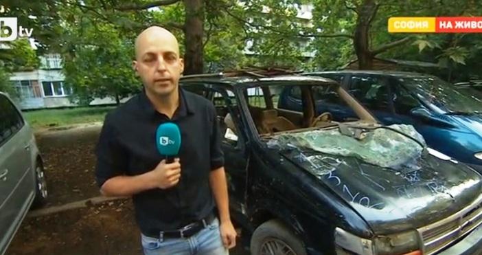 кадърbTVПоне от 7 години разбита кола гние пред блок в
